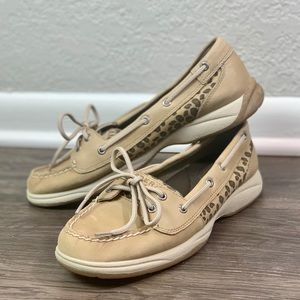 Sperry Top Sider Cheetah Animal Print Loafer 9